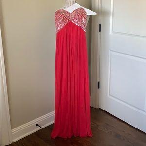 Blonde prom dress